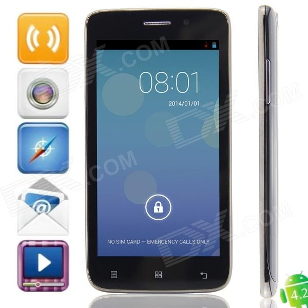 KVD C2000 MTK6572 Dual-core Android 4.2.2 WCDMA Bar Phone w/ 5.0 IPS, 4GB ROM, Wi-Fi, FM, GPS