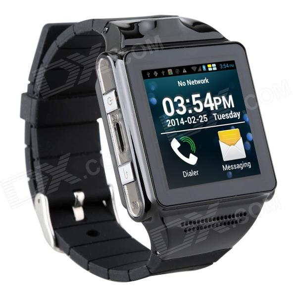 "IK 1.54"" Touch Screen Dual-Core Android 4.0 Wearable Smart Phone Watch w/ 5.0 MP Camera / Wi-Fi"