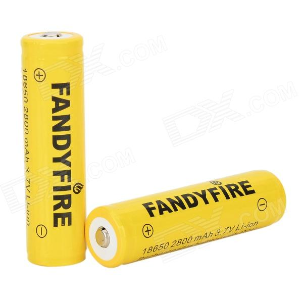 FANDYFIRE 3.7V 1400mAh Rechargeable 18650 Li-ion Batteries - Yellow (2 PCS) new gt2052s 721843 721843 0001 721843 5001s 79519 turbo turbine turbocharger for ford ranger 2001 power stroke hs2 8 2 8l 130hp