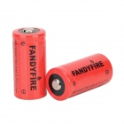 FANDYFIRE 3.7V 600mAh Rechargeable 16340 Li-ion Batteries - Red (2 PCS)