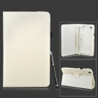 Protective PU Leather Flip-open Stand Case w/ Stylus for Samsung Galaxy Tab Pro 8.4 T320 - White