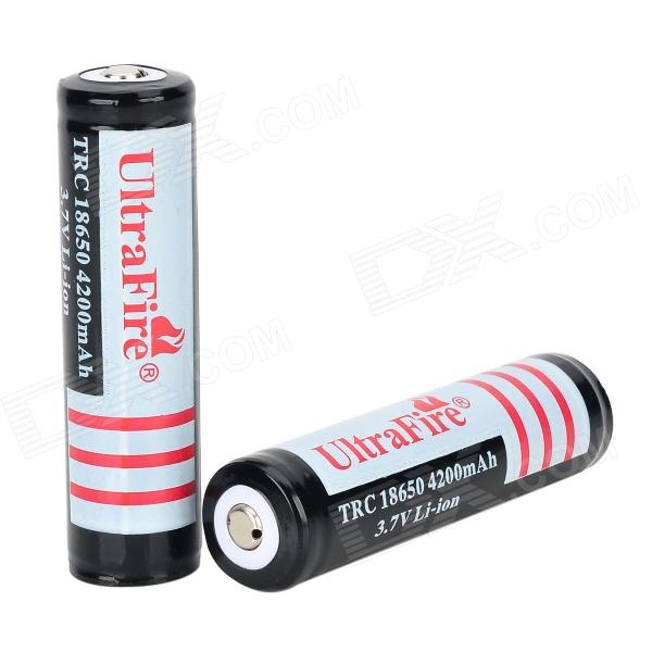 Ultrafire 18650 3.7V 1500mAh Rechargeable Li-ion Batteries for Flashlight - White + Black (2 PCS)