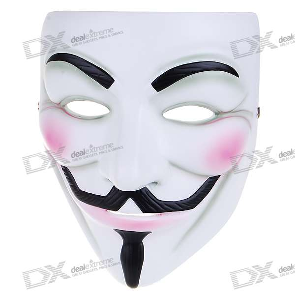 V for Vendetta Anonymous Guy Fawkes Resin Mask - White ludlum r ludlum the lazarus vendetta