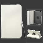 360 Degree Rotation Protective Flip-open PU Leather Case w/ Stylus for Samsung T110