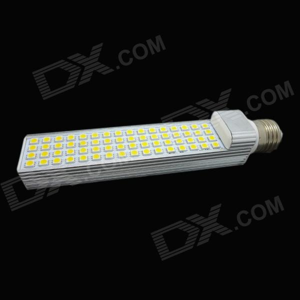 WALANGTING E27 12W 400lm 64-SMD 5050 LED Warm White Light Lamp - White + Silver (AC 85~265V) r7s 15w 5050 smd led white light spotlight project lamp ac 85 265v