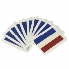 World Cup Flag Style Body Paper Stickers - Dark Blue + Beige + Multi-Colored (10 PCS)