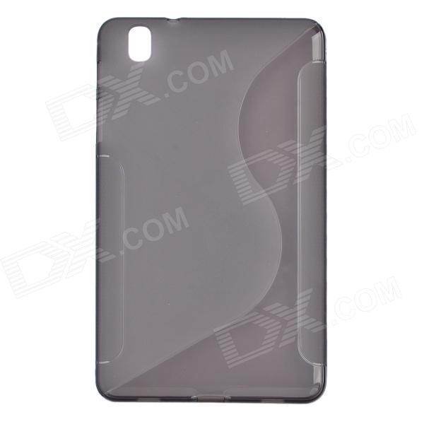 S Pattern Protective TPU Back Case for Samsung Galaxy Tab Pro 8.4 T320 - Translucent Black