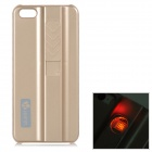 Protective ABS Case w/ Cigarette Lighting Function for IPHONE 5 / 5S - Golden