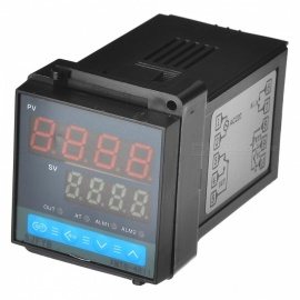 XMTG-4811 K Type 4-Digital 0.45'' + 0.32'' LCD Temperature Controller - Black
