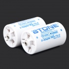 BTONE AA to Type-D Battery Adapter Converters - White + Sky Blue (2 PCS)