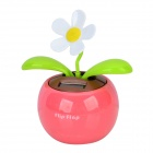 B1 Decorative Plastic Apple Planted Flower - Dark Pink + Green + Multicolored