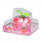 Decorative Plastic Apple Planted Flower - Dark Pink + Green + Multicolored