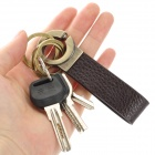 SALY 3017 Zinc Alloy Keychain - Bronze + Brown