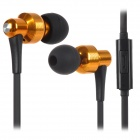 SENICC MX-154i Fashion Wired In-ear Earphone - Golden + Black + Multi-Colored