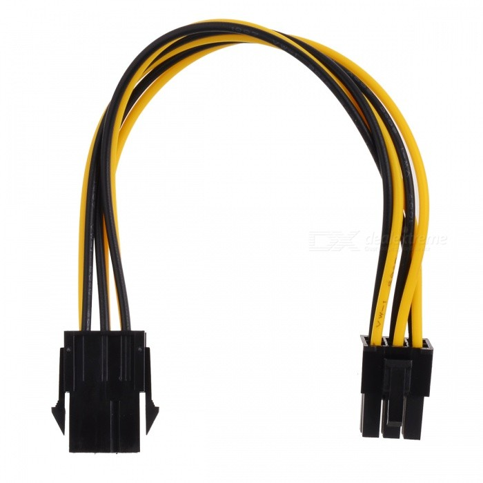 6-pin Male to Female Graphics Card Power Extension Cable - Black + WhiteComputer Cable &amp; Adapter<br>Form  ColorWhite + Black + Multi-ColoredBrandJiahuiQuantity1 DX.PCM.Model.AttributeModel.UnitMaterialPlastic + brassShade Of ColorMulti-colorInterfaceOthers,6-pinPacking List1 x Power wire<br>