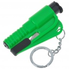 White Light LED Flashlight + Glass Breaker + Safety Belt Cutter Keychain - Random Color (3*AG1)