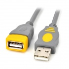 USB 2.0 Male to Female Shielded Extension Cable - Gray (150cm)