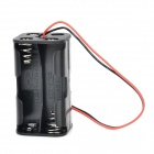 DD-33 1.5V 4-AA Battery Case for Model Car / Airplane - Black + Red
