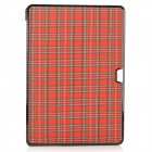 "bta Check Pattern Protective Plastic Case for APPLE MACBOOK AIR 13.3"" - Red + Black"