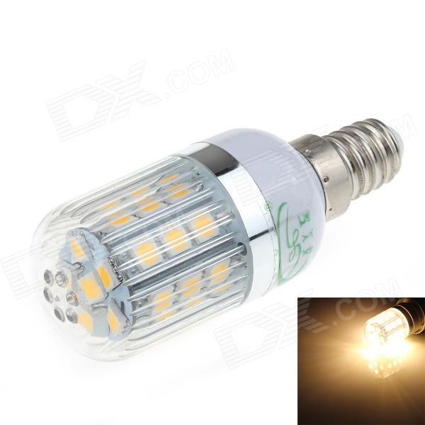YM02 E14 5.4W 540lm 3000K 27-SMD 5050 LED Warm White Light Lamp w/ Acrylic Cover - Silver (85~265V) lexing lx r7s 2 5w 410lm 7000k 12 5730 smd white light project lamp beige silver ac 85 265v