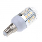 YM02 E14 5.4W 540lm 3000K 27-SMD 5050 LED Warm White Light Lamp w/ Acrylic Cover - Silver (85~265V)