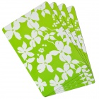 PP Anti-slip Insulation Placemat - Green + White (4 PCS)