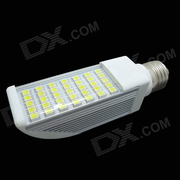 E27 7W 260lm 35-SMD 5050 LED Warm White Light Bulb - White + Silver (AC 85~265V)