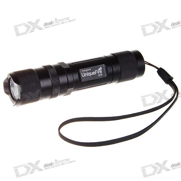 Uniquefire S10 6-Mode 220-Lumen Memory LED Flashlight w/ Cree R2-WC - Black (1*AA/1*14500) fandyfire f102 r2 wc 5 mode 250lm white led memory flashlight 1x18650 1x17670 2x16340 2x123a