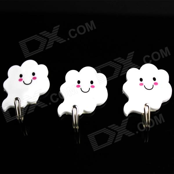 Cute Little White Clouds Style Adhesive Hooks(3 PCS)