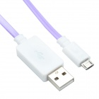 TLG-021 USB 2.0 to V8 High-speed Intelligent Light Cable - Purple + White