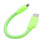 TLY-015 Universal USB 2.0 Male to Micro USB Male Intelligent High-speed Flexible Cable - Green