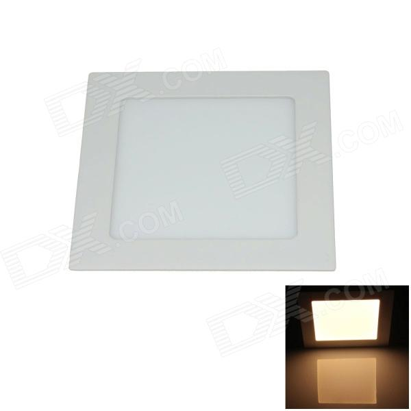 15W 1500lm 3000K 75-SMD 2835 LED Warm White Ultrathin Square Ceiling Light w/ Driver  (AC 85~265V) kinfire square shaped 15w 1320lm 75 smd 3528 led white light ceiling lamp w driver ac 85 265v