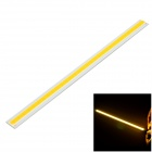 10W 750lm 3000K COB LED Warm White Light Strip Source Module - Silver + Yellow (DC12~14V)