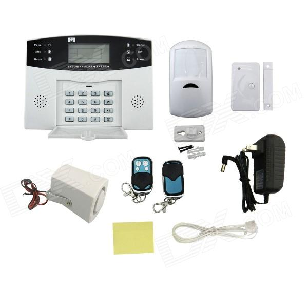DP-908 Infrared Sensor Dual Voice Telephone Line LCD Home Alarm / Shop Security System Alarm