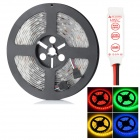 HML Waterproof 72W 6300lm 300-SMD 5050 LED RGB Light Strip w/ Mini 3-Key RGB Controller (12V / 5m)