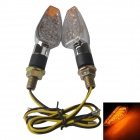 Short Handle Motorcycle Bike 2W 112lm 15-LED Yellow Steering / Signal Lights (12V / 2 PCS)