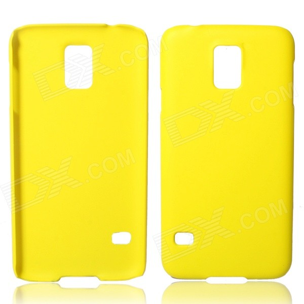 Fashionable Super Thin Protective Glaze PC Back Case for Samsung Galaxy S5 - Yellow fashionable super thin protective glaze pc back case for samsung galaxy s5 black