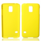 Fashionable Super Thin Protective Glaze PC Back Case for Samsung Galaxy S5 - Yellow