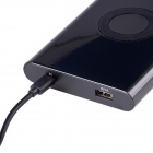 Neue Edition High Quality USB Port 7000mAh Power Bank w / QI drahtlose Ladestation für Handy - schwarz