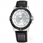 SKONE9221 Fashionable Men's Sports Analog Quartz Wrist Watches - White + Black