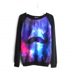 New Style Beard Star Long-sleeved Cotton Coat - Black