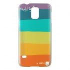 Colorful Rainbow Pattern Plastic Protective Hard Back Case for Samsung Galaxy S5 i9600