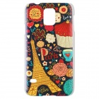 Eiffel Tower Pattern Plastic Protective Hard Case for Samsung Galaxy S5 i9600