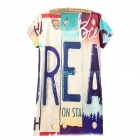 Fashion Letter Printed Short-sleeved T-shirt