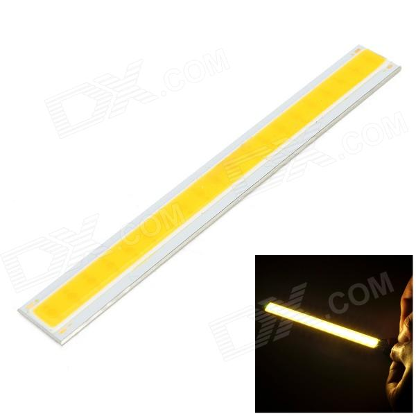 4W 300lm 3000K COB LED Warm White Light Source Module - Silver + Yellow (DC12~14V)