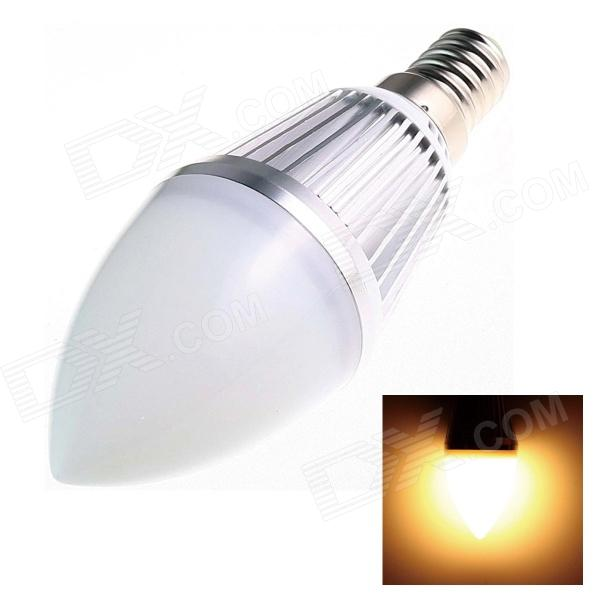 E14 4W 160lm 3000K 10-SMD 3528 LED Warm White Light Candle Bulb (AC 85~256V) e14 4w 160lm 6500k 16 smd 3528 led white light candle bulb ac 85 256v