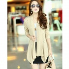 XZY W5832 Cotton Blended Slim Fit Long-sleeved Cardigan - Beige (Free Size)