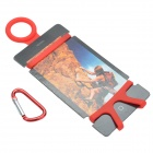 Creative Mountaineering Buckle / Silicone Protect Case w/ Buckle for Smart Phones - Red + Silver
