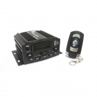 "Kinrener 1.4"" LCD 400W Motorcycle Amplifier w/ MP3 / Burglar Alarm / USB / TF / AUX / FM - Black"