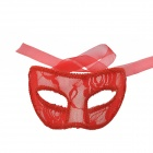 Exquisite Lace Lady Ball Translucent Mask - Red
